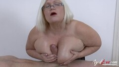 Chesty British Mature Hardcore Sex with Soldier Thumb