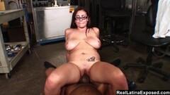 Horny bbw secretary caught pussy playing Thumb