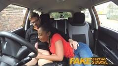 Fake Driving School pretty petite black babe Thumb
