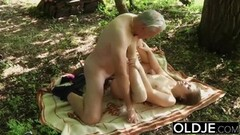 Naughty Teen Ass Spanking by Grandad Thumb