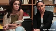 Two girls fucked hard in the backroom Thumb