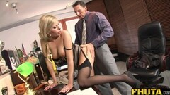 Fhuta Caught with finger in pussy she gets banged Thumb
