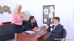 Horny beautiful Olivia Fox banged balls deep in the office Thumb