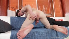 Muscular Jack Parr Cock Beating Thumb